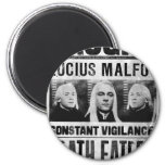 Lucius Malfoy Wanted Poster 2 Inch Round Magnet
