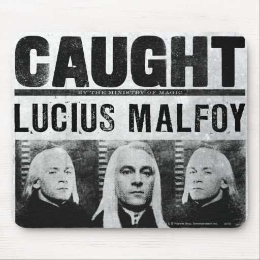Lucius Malfoy Wanted Poster Mouse Pad