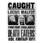 Lucius Malfoy Wanted Poster Postcards