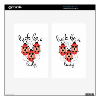 Luck Be A Lady Kindle Fire Decal