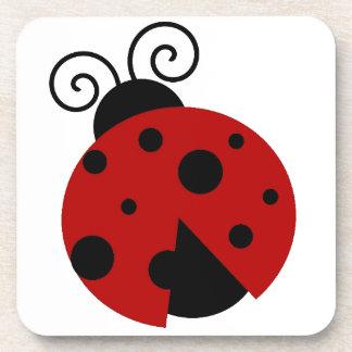 Luck be a Ladybug Cartoon Coaster
