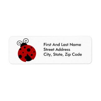 Luck be a Ladybug Cartoon Label