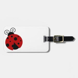 Luck be a Ladybug Cartoon Luggage Tag