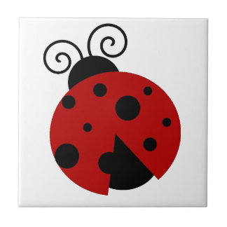 Luck be a Ladybug Cartoon Tile