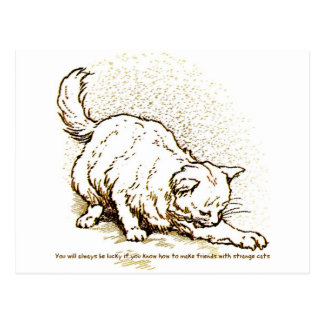 Luck by Strange Cats Postcard