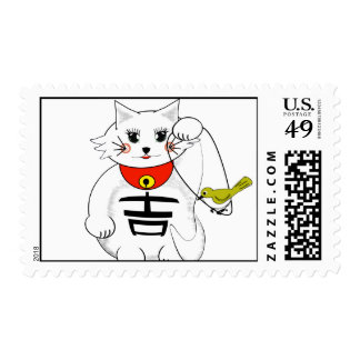 Luck+cat Postage
