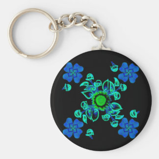 Luck clover Clover with sunflower and Calla lily Keychain
