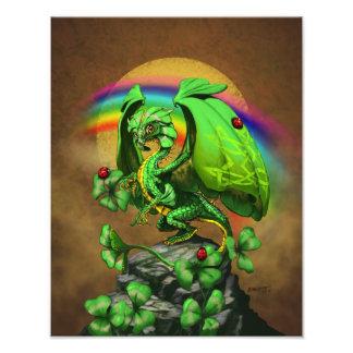 Luck Clover Dragon 11x14 Print