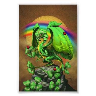 Luck Clover Dragon 4x6 Print