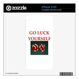 luck decals for iPhone 4S