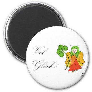 Luck elf 2 inch round magnet