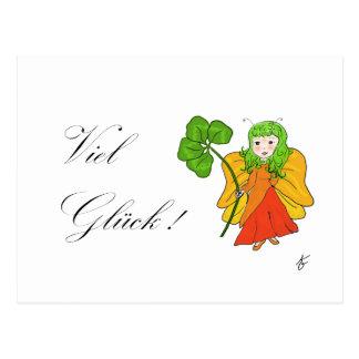 Luck elf postcard