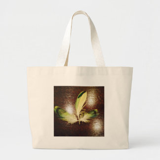 Luck feathers… on wood jumbo tote bag