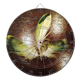 Luck feathers… on wood dartboard