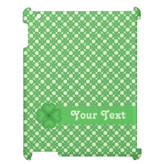Luck Four leaf Clover Hearts pattern Customizabe iPad Cover