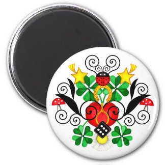 Luck Gifts 2 Inch Round Magnet