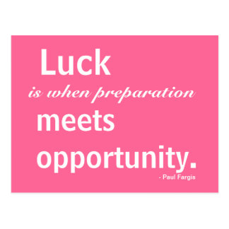 Luck, Inspiration, Opportunity, Postcard
