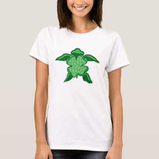 Luck Irish clover sea turtle lady's shirt