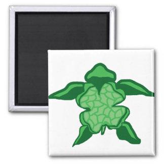 Luck Irish clover sea turtle magnet