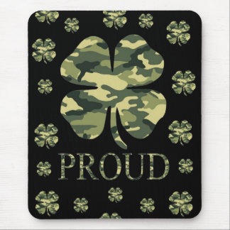 Luck Irish Four leaf clover - Camouflage Mousepad
