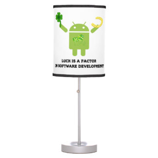 Luck Is A Factor In Software Development Bugdroid Desk Lamp