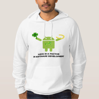 Luck Is A Factor In Software Development Bugdroid Hoodie