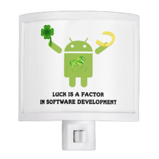 Luck Is A Factor In Software Development Bugdroid Night Light