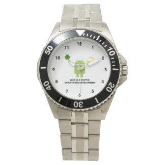 Luck Is A Factor In Software Development Bugdroid Wrist Watch