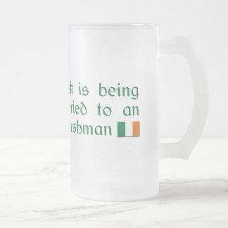 Luck is Being Married To An Irishman Coffee Mug