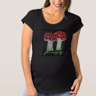 Luck mushroom - fly agaric - super sweetly for maternity T-Shirt