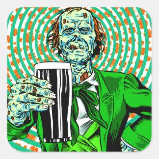 Luck O' The Dead Square Sticker