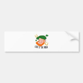 Luck o the Irish Car Bumper Sticker