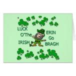 Luck O The Irish Erin Go Bragh Card