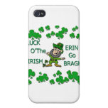Luck O The Irish Erin Go Bragh iPhone 4/4S Covers