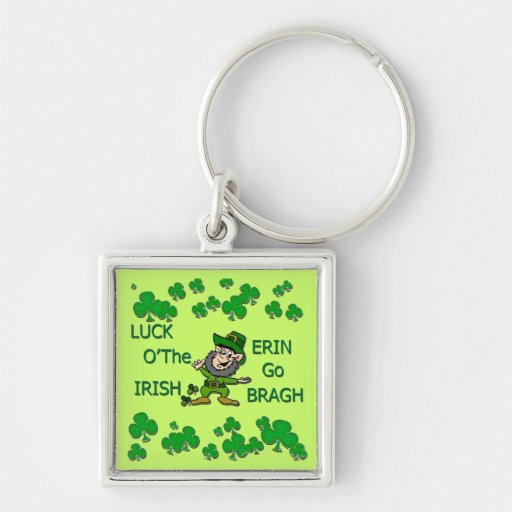 Luck O The Irish Erin Go Bragh Key Chains