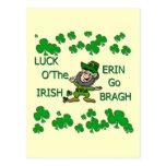 Luck O The Irish Erin Go Bragh Postcards