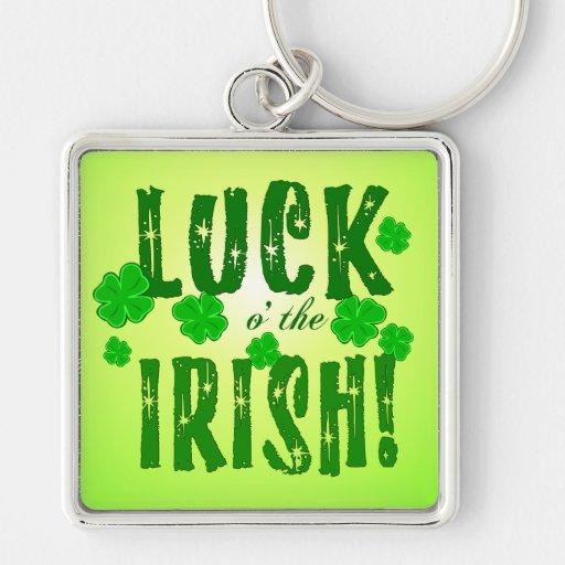Luck o the Irish Four Leaf Clover Key Chain