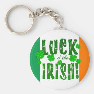 Luck o the Irish Green Orange White Keychain