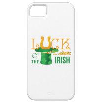 Luck o the irish horse shoe and irish hat iPhone SE/5/5s case