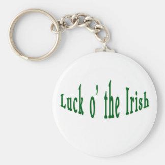 Luck o the irish basic round button keychain