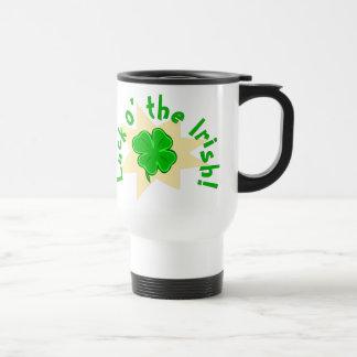 Luck o the Irish Lucky Four-leafed Clover Mug