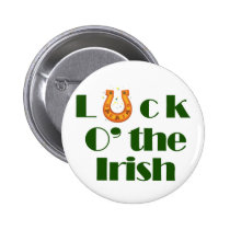 Luck o the irish pinback button