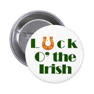 Luck o the irish pinback button