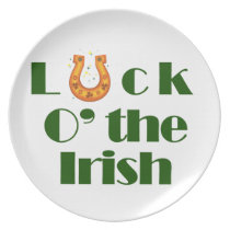 Luck o the irish plate