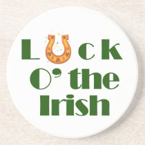 Luck o the irish sandstone coaster