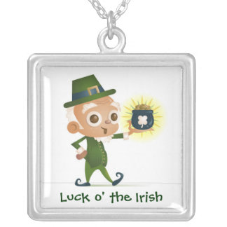 Luck O' The Irish Silver Plated Necklace