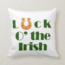Luck o the irish throw pillow