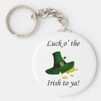 Luck O the Irish To Ya Key Chains