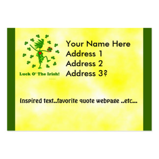 Luck O' the Irish Whimsical Design Large Business Card