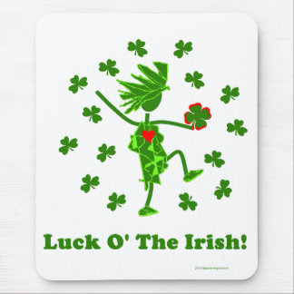 Luck O' the Irish Whimsical Design Mouse Pad